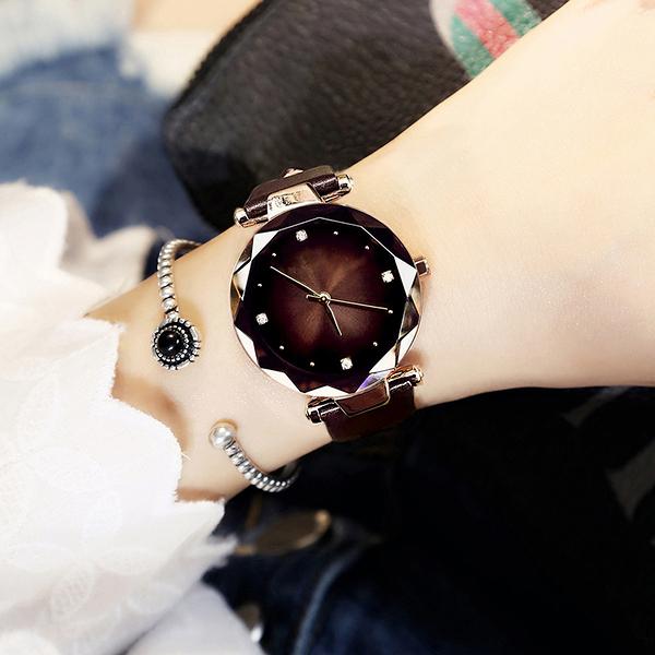 ins風網紅女學生星空韓版簡約時尚潮流防水抖音同款2020新款手錶