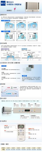 【HITACHI日立】定頻雙吹式窗型冷氣RA-50WK含基本安裝//運送