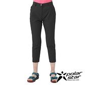 PolarStar 女 彈性合身九分褲『黑灰』P21302 戶外 休閒 登山 露營 運動褲 釣魚褲