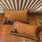枕頭 藤枕全蕎麥艾草涼枕頭低枕夏天涼席枕單人午睡助睡眠夏季透氣涼爽