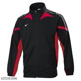 MIZUNO 男裝 外套 套裝 吸汗快乾 抗紫外線 拉鍊口袋 黑紅【運動世界】32TC053596