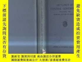 二手書博民逛書店1935年英文原版OUTLINES罕見OF CENTRAL GO