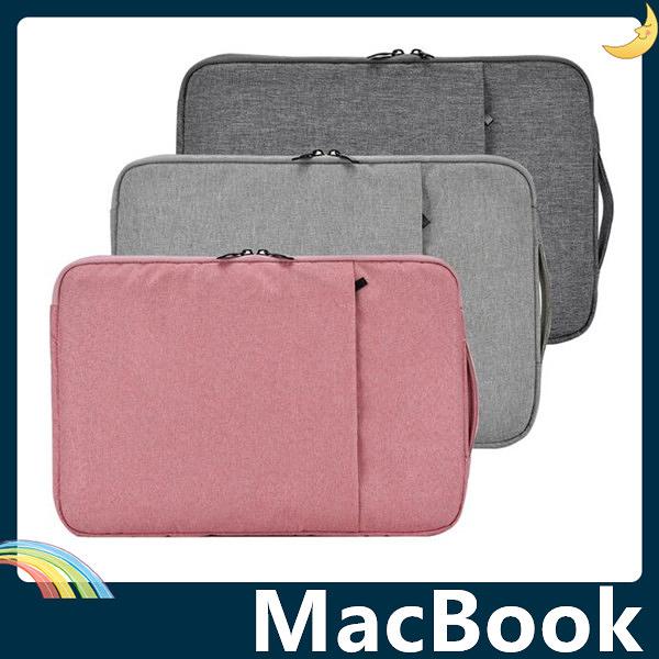 MacBook Air/Pro/Retina 牛仔布紋保護套 手提內膽包 短絨毛防震 抗震耐壓 筆電包 手拿包 支援全機型