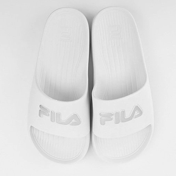 【現貨】FILA 男鞋 女鞋 拖鞋 休閒 防水 白 銀【運動世界】4-S355T-118
