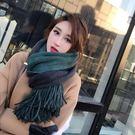 圍巾女秋冬季加長加厚韓版百搭新款雙面雙色披肩學生保暖圍脖秋