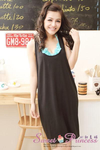 泳衣配件 美背X款比基尼外搭罩衫 - 戀上海邊(黑) -沁甜美姬