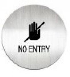 迪多deflect-o   613710C   NO ENTRY 英文禁止進入-鋁質圓形貼牌 / 個