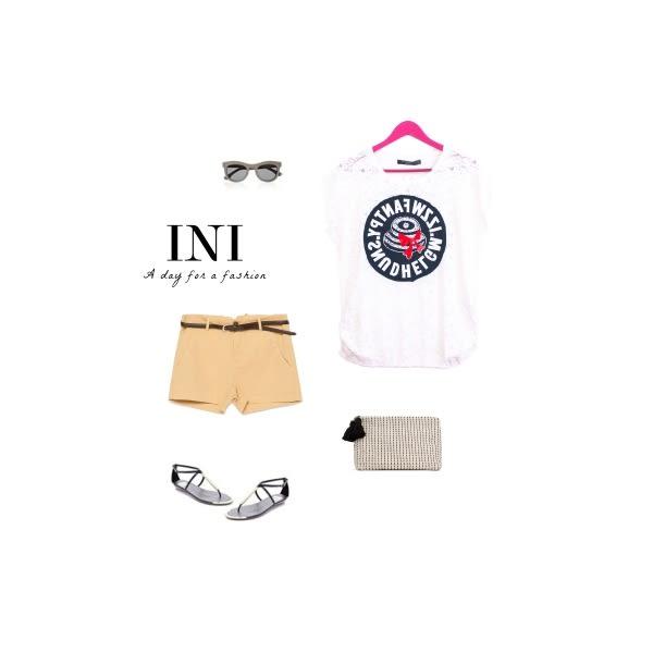 【INI】鄰家女孩、好感蕾絲連袖流線款上衣.白色
