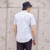 短袖襯衫男夏季新款學生帥氣韓版潮流小碎花襯衣男港風  蘿莉小腳丫
