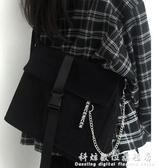 YOHOO!/原創包包ins新款百搭側背包帆布學生書包上課背包男女 聖誕節免運