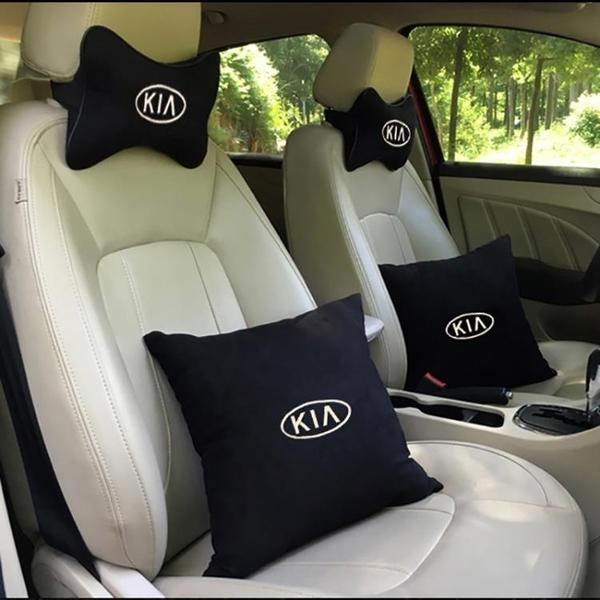 降價兩天 奧迪寶馬奔馳豐田本田大眾現代起亞汽車四件套頭枕車標抱枕頭頸枕
