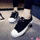 魔術貼鞋 2021秋季新款百搭魔術貼帆布鞋女鞋夏季韓版學生秋鞋休閒小白布鞋 coco