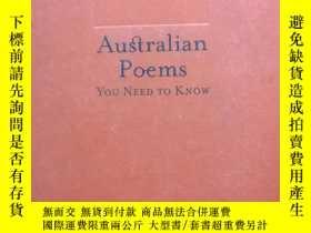 二手書博民逛書店英文原版罕見Australia Poems-you need t