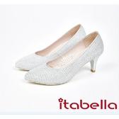 本週下殺2017  新品tabella .金蔥布尖頭高跟鞋7570 15 銀