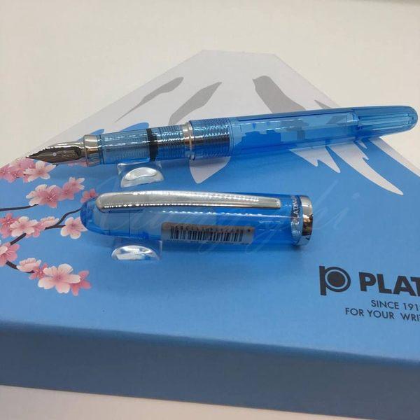 白金牌Paltinum-鋼筆-日本富士山禮盒組-PGB-3000A-透明藍