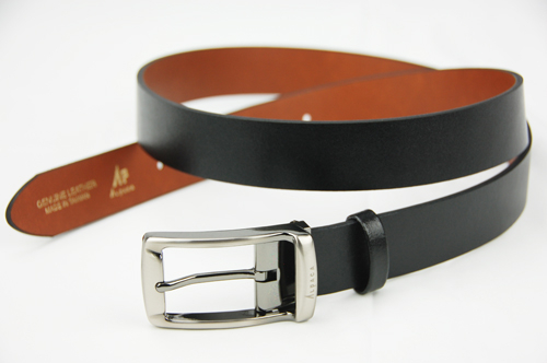 【雅派Alpaca】黑色基本款真皮窄版腰帶