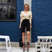 2020夏季新款高腰黑色牛仔短褲女顯瘦韓版彈力緊身中褲騎行五分褲 第一印象