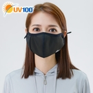 UV100 防曬 抗UV-立體舒適口罩-自體收納