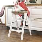 折疊凳實木梯登高三步小梯子家用折疊凳子折疊梯凳 萬客居
