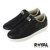 Royal Elastics 黑色 皮質 套入 運動休閒鞋 女款 NO.J0722【新竹皇家 92711-999】