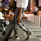 經典韓式風格條紋束口造型百搭休閒運動長褲