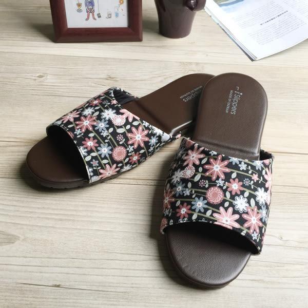台灣製造-品味系列-布面皮質室內拖鞋-花絮-黑