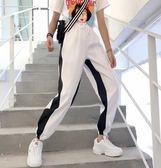 夏裝2018韓版寬鬆帥氣嘻哈怪味少女褲子顯瘦學生束腳運動哈倫衛褲『小淇嚴選』