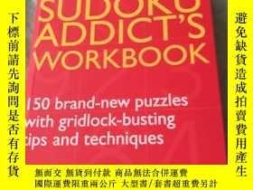 二手書博民逛書店英文原版:The罕見Sudoku Addict s Workbo