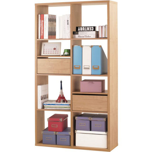 【澄境】八格加厚收納櫃(附抽屜&活動板) 置物櫃 櫃子 玄關櫃 邊櫃 隔間櫃 書櫃 書架 展示櫃 2168NA