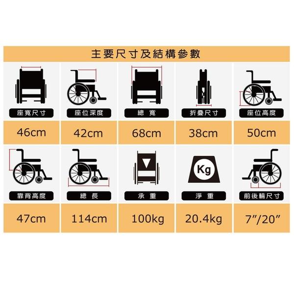"""""""必翔銀髮""""手動輪椅(未滅菌) 高背躺式手動輪椅 PH-185A 輪椅 【生活ODOKE】"""