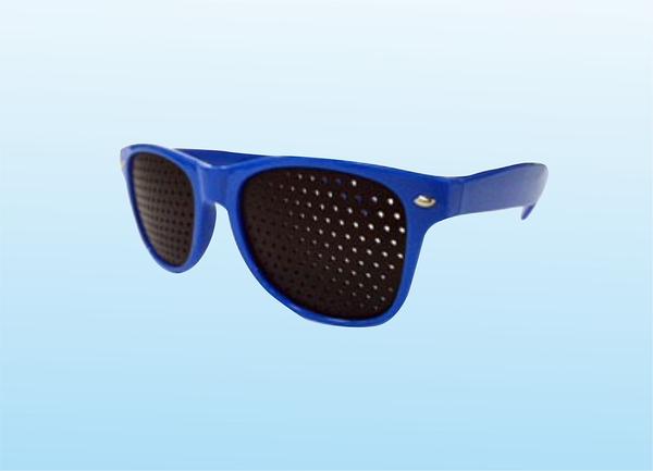 多孔小孔眼鏡-藍色(預防近視度數加深. 舒緩眼部疲勞)