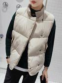 情侶款棉馬甲男秋冬季韓版潮無袖外套加厚寬鬆立領羽絨棉坎肩背心