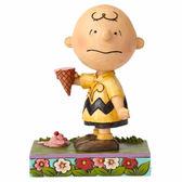 聖誕禮物《Enesco精品雕塑》查理布朗傷心冰淇淋塑像-Melting Point(Peanuts by Jim Shore)_EN89283