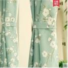 韓式田園成品窗簾臥室落地窗飄窗小窗全遮光隔熱防曬遮陽清新短簾 寬1.5米*高2.5米 1片價格
