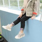 ins超火的鞋子女童運動冬季加絨新款寶寶棉鞋韓國兒童椰子休閒鞋   花間公主