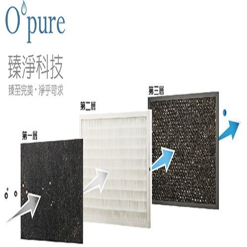 Opure 臻淨 A1負離子空氣清淨機三層濾網組 A1-B+A1-C+A1-D