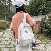 閨蜜包韓版後背包女刺繡丑萌搞怪高中學生古著感少女書包