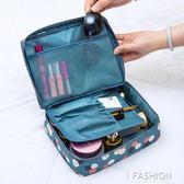 旅行洗漱包大容量小號簡約隨身便攜多功能韓國化妝品收納袋小方包-Ifashion
