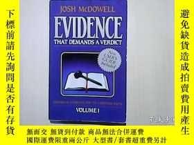 二手書博民逛書店EVIDENCE罕見THAT DEMANDS A VERDICT【VOLUME 1:HISTORICAL EVID