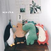玩偶 最大款式毛絨玩具日本可愛超軟鱷魚狐貍小熊狗狗睡覺陪伴公仔公主抱毛絨 娃娃 DF