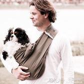 歐美時尚斜挎寵物背巾寵物背包狗包貓包外出便攜狗包 深藏blue
