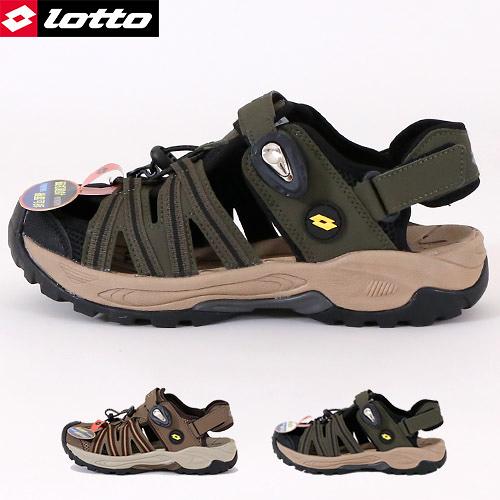 男款 LOTTO 1630 兩束扣護趾透氣排水防滑耐磨易曲折輕量軟Q水陸車鞋休閒運動涼鞋護趾涼鞋 59鞋廊