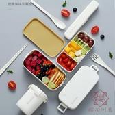 雙層飯盒便當健身便攜分隔型餐盒保溫可微波爐【櫻田川島】