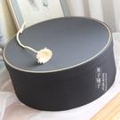 超大圓形禮物盒抱抱桶生日高檔旺仔水果禮品盒北歐風可樂黑色空盒 設計師