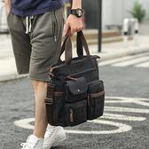 新款男士包包單肩包斜挎包商務手提包男多功能公文包休閒男包韓版