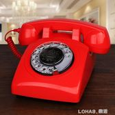 無線插卡電話機座機電信行動聯通復古仿古電話機歐式旋轉家用固話 樂活生活館