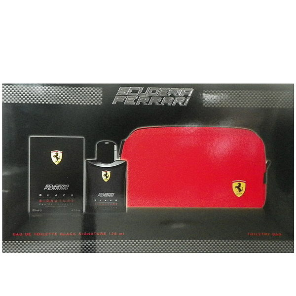 Ferrari Scuderia Black 極限黑男性淡香水 125ml 禮盒