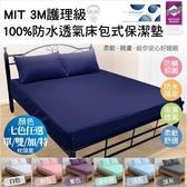 保潔墊 枕頭套 MIT 3M護理級保潔墊 枕頭套 完全防水 日本防蹣抗菌 ED0007 加大款180*186