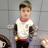 兒童長袖男童韓版套頭衫秋裝新款寶寶長袖衛衣「潮咖地帶」