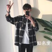 襯衫 chic格子襯衫男長袖韓版潮流夏季新款寬鬆百搭學生帥氣襯衣薄外套 2色S-3XL